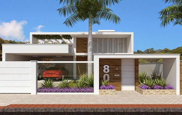 Modelos de muros modernos decorando casas for Modelos de casas minimalistas modernas