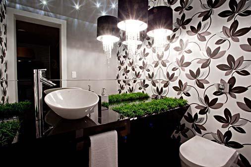 Papel de parede para banheiros decorando casas - Papel decorado para paredes ...
