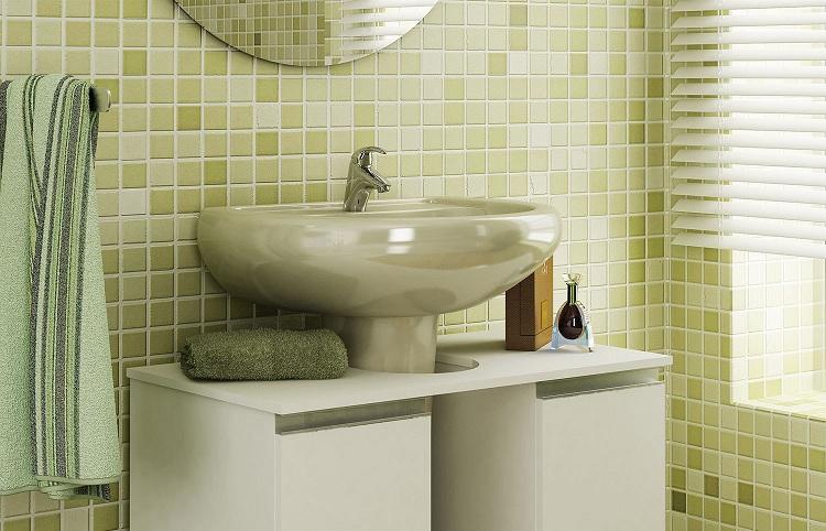 Dicas de pia para banheiros pequenos  Decorando Casas -> Pia De Banheiro Pequeno