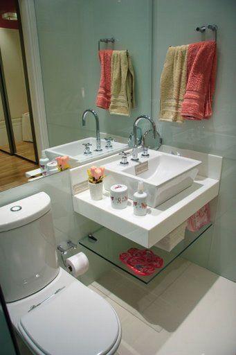 Dicas de pia para banheiros pequenos  Decorando Casas -> Cuba Para Pia De Banheiro De Vidro