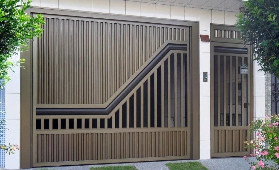 Muitas vezes Modelos de portões de ferro para garagem | Decorando Casas QT04