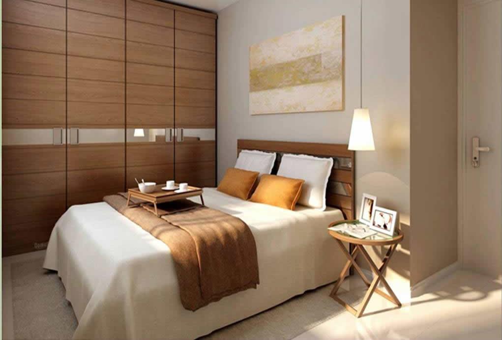Projetos de quartos pequenos decorando casas for Mobilia quarto casal custojusto