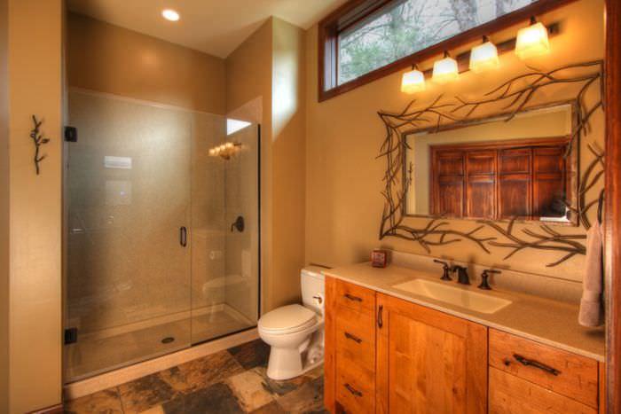 Revestimentos para banheiros rústicos  Decorando Casas -> Banheiro Simples Rustico