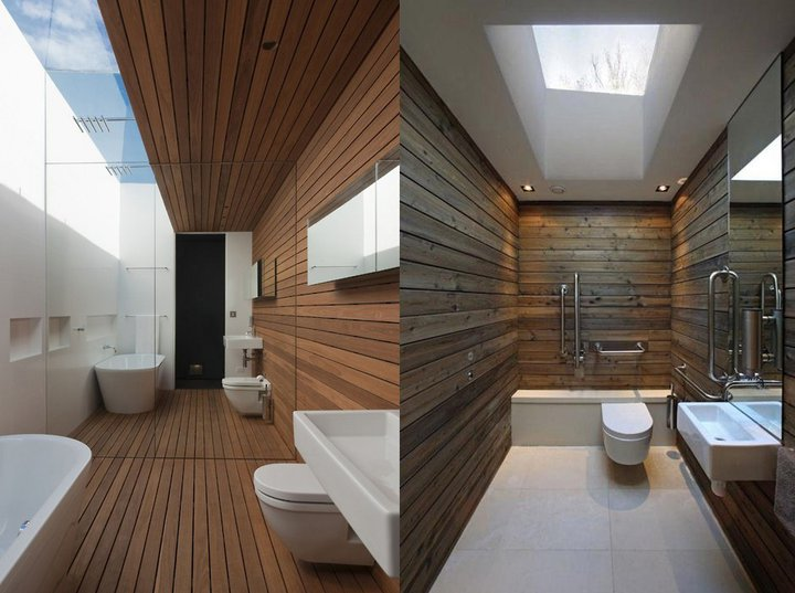 Revestimentos para banheiros rústicos  Decorando Casas -> Banheiro Moderno E Rustico