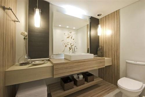 Revestimentos para banheiro 2015  Decorando Casas -> Banheiro Moderno Revestimento