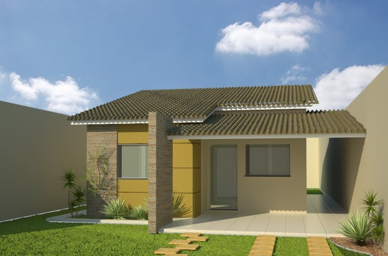 Fotos de telhados casas simples e pequenas decorando casas for Modelos de parrillas para casas pequenas