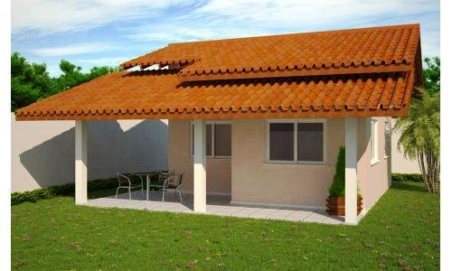 Fotos de telhados casas simples e pequenas decorando casas for Modelos de casas de campo de una planta