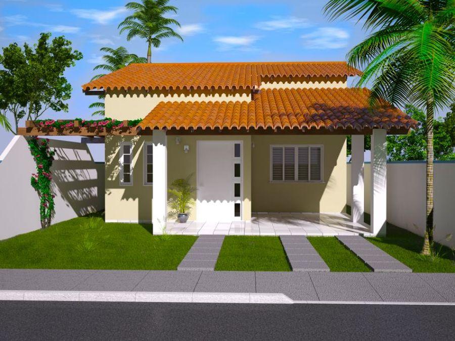 Fotos de telhados casas simples e pequenas decorando casas for Planos de casas pequenas de una planta