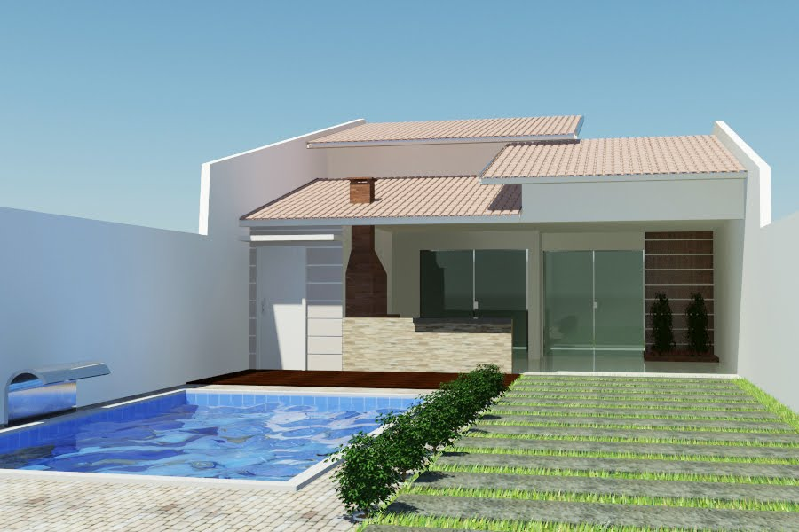 Fotos de telhados casas simples e pequenas decorando casas for Pintura casa moderna