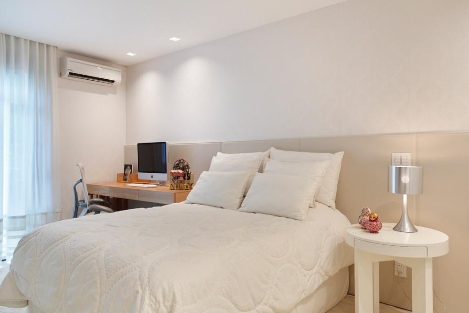 Decoração de quartos simples e aconchegantes Decorando Casas ~ Quarto Casal Cor Branco Gelo