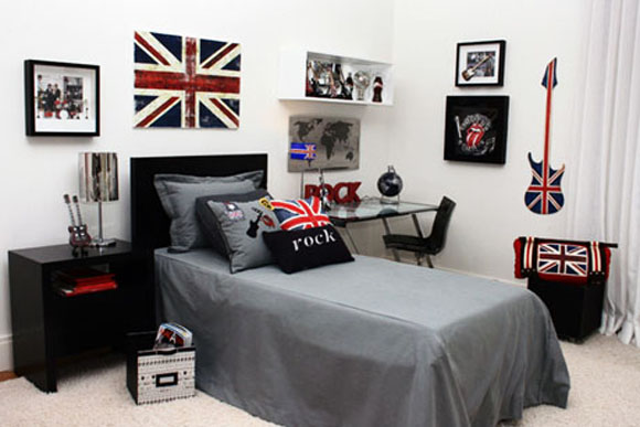 Dicas decoração quarto solteiro Decorando Casas ~ Quarto Solteiro Decorado Masculino