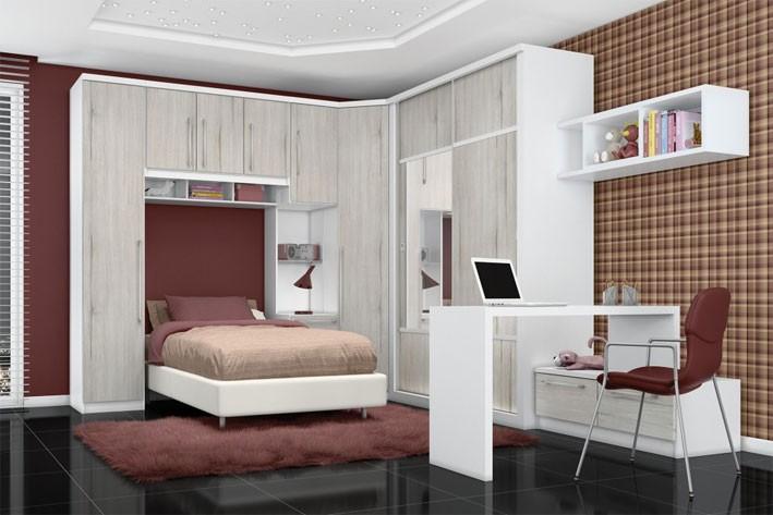 Dicas decoração quarto solteiro Decorando Casas ~ Quarto Planejado Ou Modulado