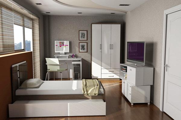 Dicas decoração quarto solteiro Decorando Casas ~ Quarto Planejado Solteiro Apartamento