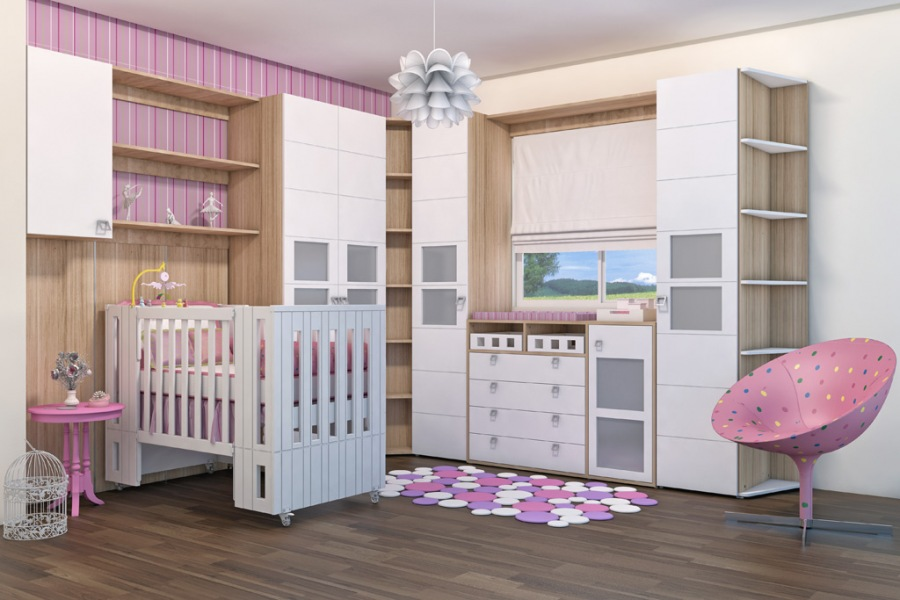 Móveis planejados para quarto de bebê Decorando Casas ~ Transformar Home Office Em Quarto De Bebe