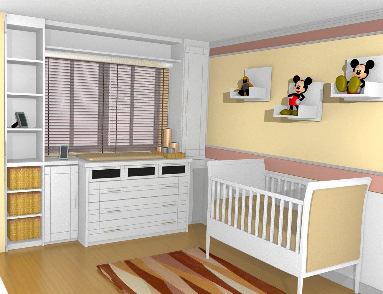 M veis planejados para quarto de beb decorando casas - Armarios de bebe ...