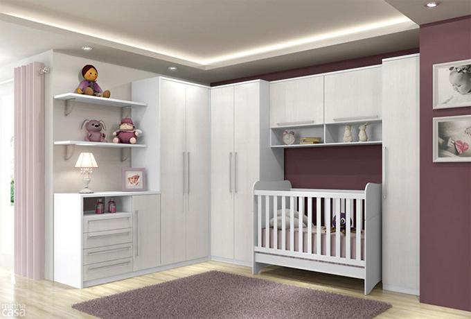 Móveis planejados para quarto de bebê Decorando Casas ~ Quarto Planejado Infantil Pequeno