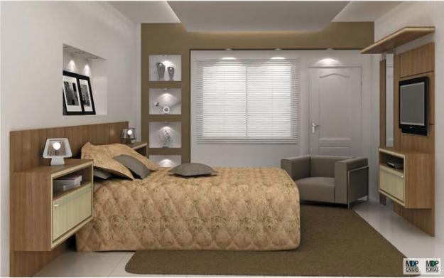 Móveis planejados para quartos pequenos Decorando Casas ~ Quarto Planejado Com Penteadeira
