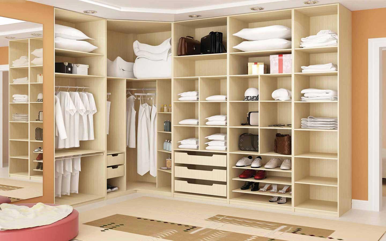 Modelos de guarda roupas planejados decorando casas - Armario en l ...
