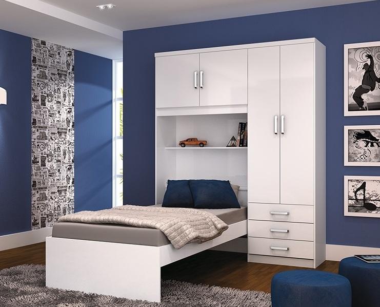 Modelos de guarda roupas para quarto pequeno de solteiro  ~ Quarto Solteiro Decorado Pequeno