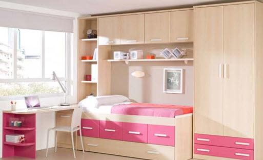 Modelos de guarda roupas para quarto pequeno de solteiro  ~ Quarto Pequeno Solteiro
