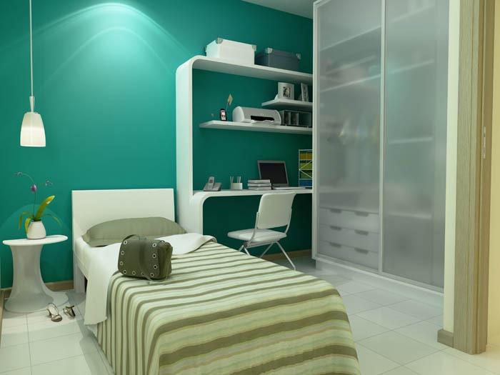 Iluminação para quarto de solteiro Decorando Casas ~ Quarto Solteiro Com Tv