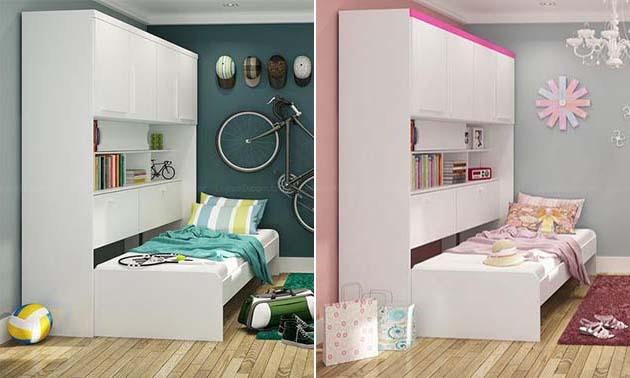 Decoração para quartos de jovens simples Decorando Casas ~ Quarto Pequeno Jovem