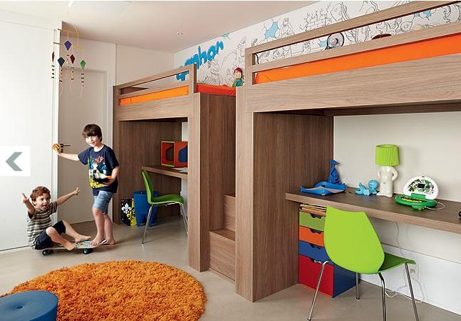Quartos planejados de crianças Decorando Casas ~ Quarto Planejado Treliche