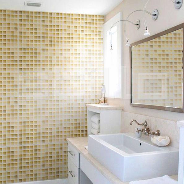 Banheiros decorados com pastilhas bege  Decorando Casas -> Banheiro Com Azulejo Pastilha