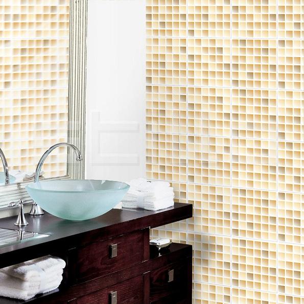 Banheiros decorados com pastilhas bege  Decorando Casas -> Banheiro Com Pastilha Bege