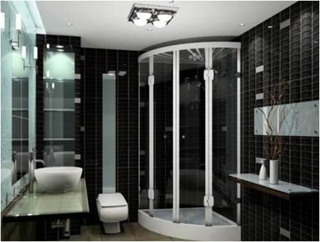 Banheiros modernos preto e branco decorando casas - Moderne toiletfotos ...