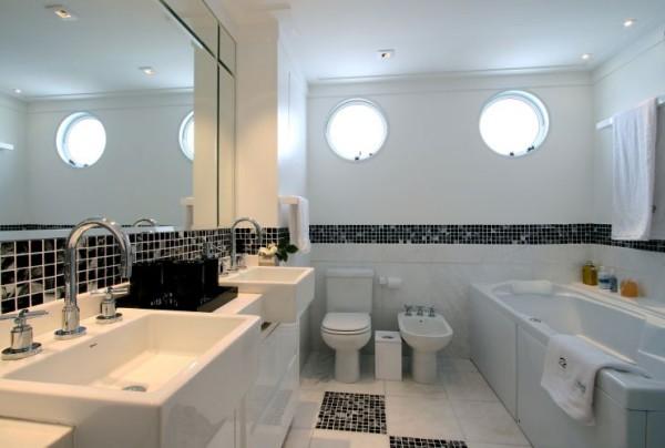 Banheiros modernos preto e branco  Decorando Casas -> Banheiro Moderno Branco