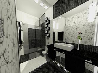 Banheiros Modernos Preto E Branco Decorando Casas