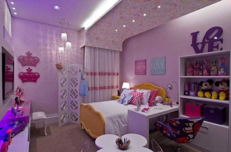Decoração para quartos de meninas Decorando Casas