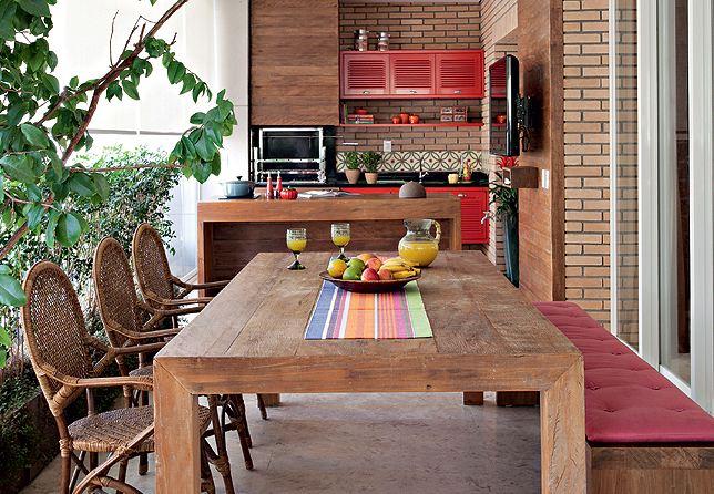 Decoraç u00e3o varanda rústica Decorando Casas -> Decoração De Varandas Externas De Casas