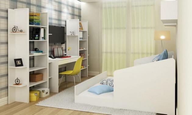 Dicas de estantes para quarto de solteiro Decorando Casas ~ Quarto Solteiro Escritorio