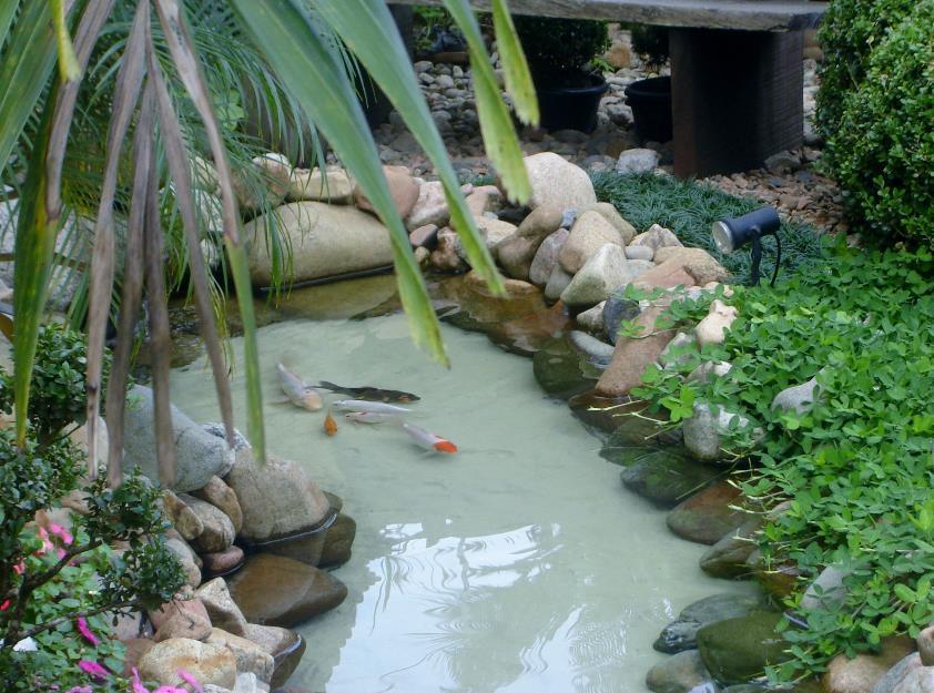 fotos jardim residencial : fotos jardim residencial:Dicas de lagos e cascatas para jardim