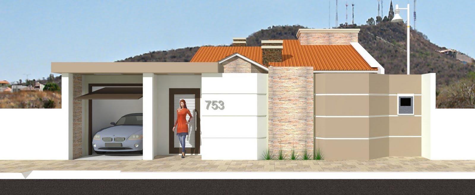 Modelos de muros simples decorando casas - Tipos de muros ...