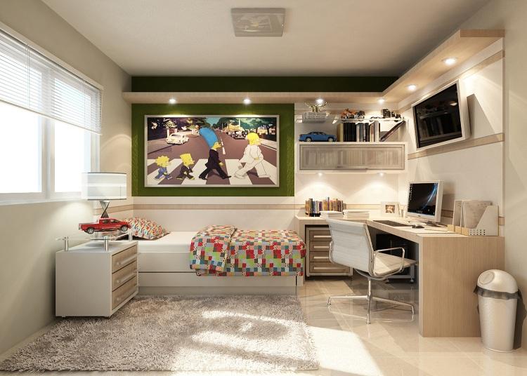M veis planejados quarto de solteiro decorando casas - Ideas para decorar habitacion juvenil femenina ...