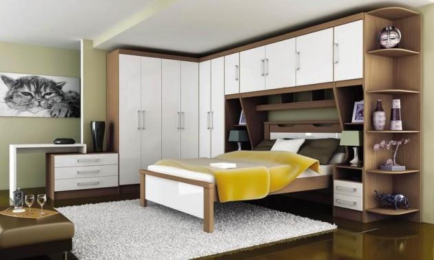 Móveis planejados quarto de casal Decorando Casas ~ Quarto Pequeno Planejado Casal
