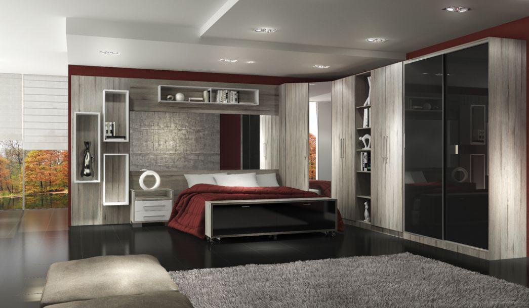 Móveis planejados quarto de casal Decorando Casas ~ Quarto Solteiro Moderno