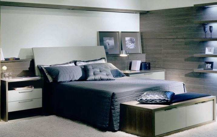 Móveis planejados quarto de casal Decorando Casas ~ Quarto Solteiro Masculino Planejado