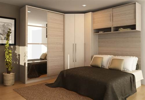 Móveis planejados quarto de casal Decorando Casas ~ Quarto Planejada Para Apartamento