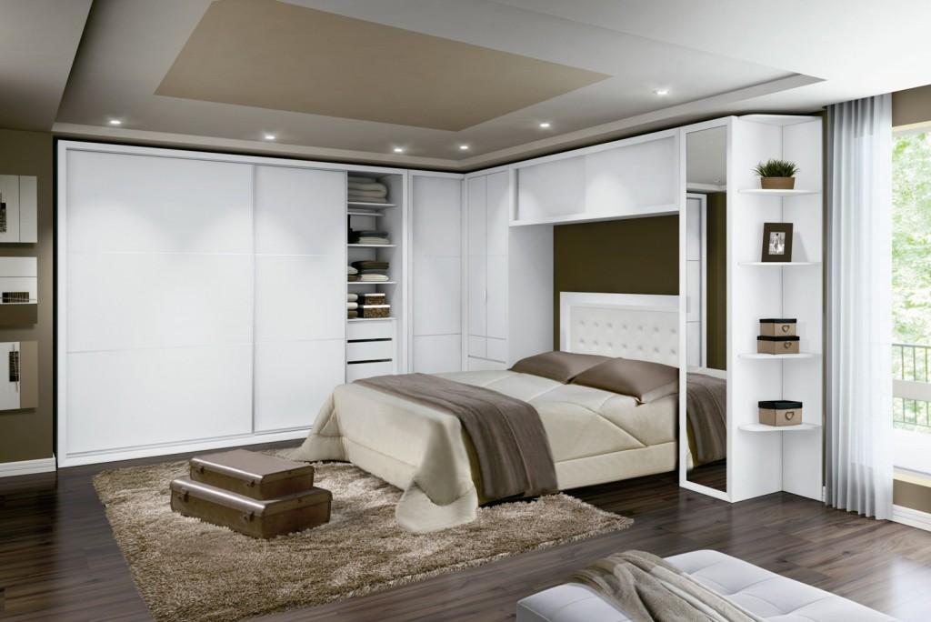 Móveis planejados quarto de casal Decorando Casas ~ Quarto Planejado Com Nichos