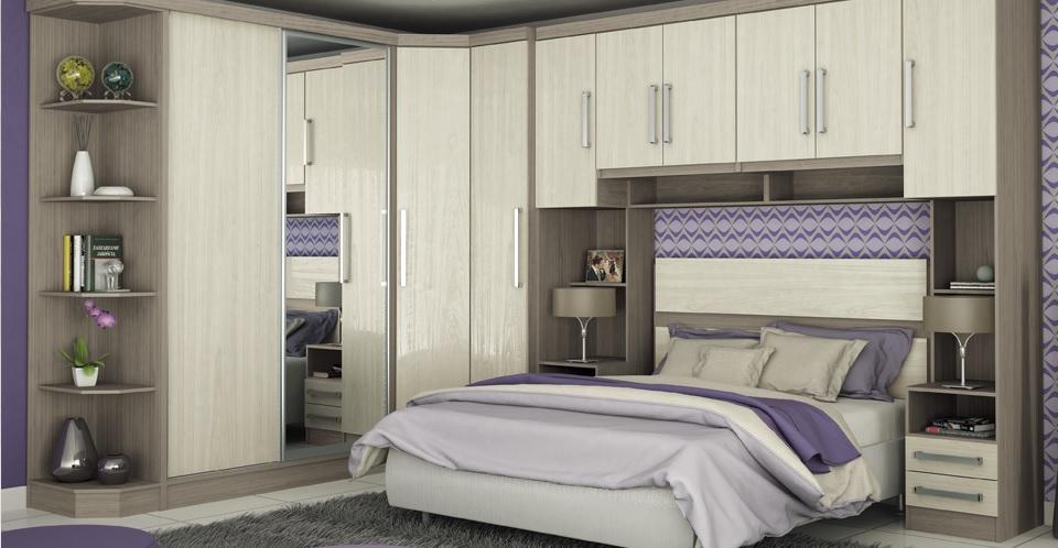 Móveis planejados quarto de casal Decorando Casas ~ Quarto Casal Com Moveis Planejados