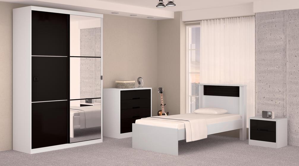 Datoonz com = Quarto Preto E Branco Solteiro Masculino  ~ Quarto Solteiro Design