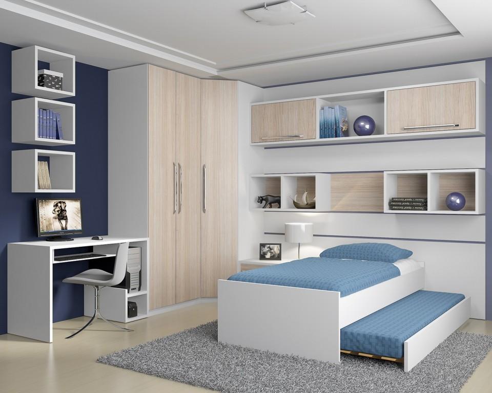 Móveis planejados quarto de solteiro Decorando Casas ~ Quarto Planejado Com Penteadeira