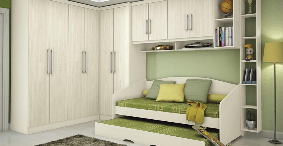 Móveis planejados quarto de solteiro Decorando Casas ~ Quarto Solteiro Pequeno Planejado