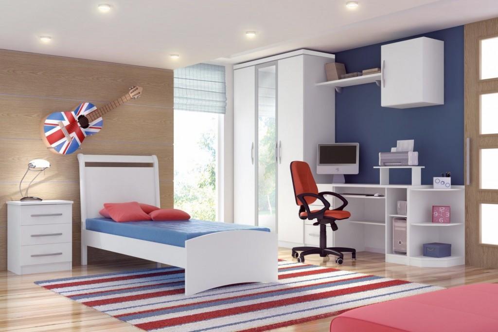 Móveis planejados quarto de solteiro Decorando Casas ~ Quarto Solteiro Moderno
