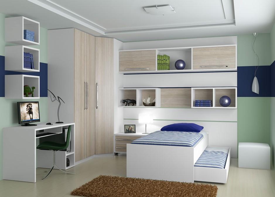 Móveis planejados quarto de solteiro Decorando Casas ~ Quarto Planejado Homem Solteiro