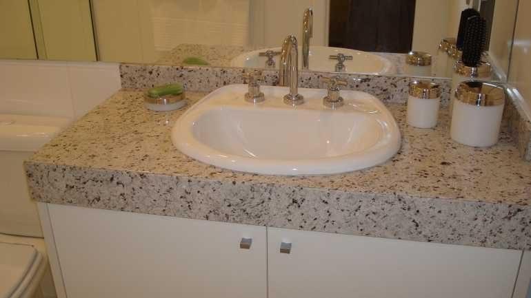 Modelos de pias para banheiro  Decorando Casas -> Granito Branco Para Pia De Banheiro